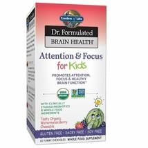 Garden of Life Dr. Formulated Brain Health Attention & Focus forKids - Waterm... - $35.18