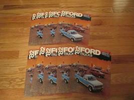 10 Ford Trucks 1982 poster car truck auto Dealer showroom Sales Brochure - $36.99