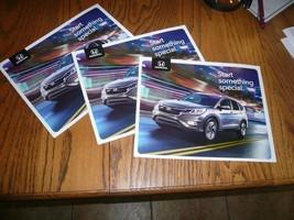 2015 Honda CR-V Odyssey HR-V  Pilot Accord Civic Hybrid Sales Brochure - Three - $12.59