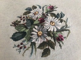 Needlepoint Floral Wool Tapestry  - $13.99