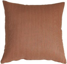 Pillow Decor - Ticking Stripe Sienna 18x18 Throw Pillow  - SKU: NB1-0004... - $34.95