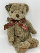 Vintage Ganz Heritage Collection 14' Napoleon Bear Red Paisley Bow 1993 - $12.00