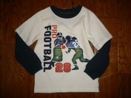 Carter's Size 4 Thermal Long Sleeve Football Layered Look Boys Shirt - $7.92