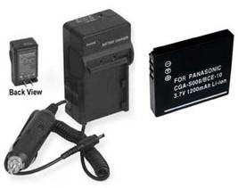 Battery + Charger For Panasonic DMCFX33K DMCFX55 SDRS26 SW20P/PC SDRS15PC - $24.09