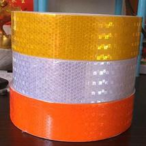 Sale Hi-Vis 50MM x 40 Meters Roll Adhesive Vehicle Reflective Safety Tape - $138.53