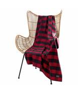 "Pendleton Rob Roy Luxe 100% Polyester 50""x70"" Throw Blanket Red Navy Pla... - $34.64"