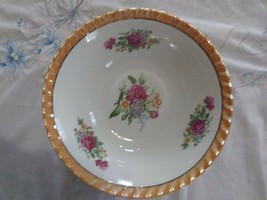 Vintage  Yamatsu Bowl, 9 Inches, Made In Japan roses - $16.88