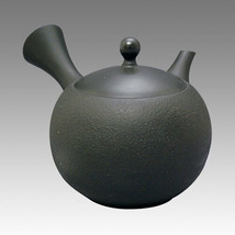 Japanese Kyusu teapot - JINSUI - Black Satsuki 300cc - ceramic circle fi... - $75.41