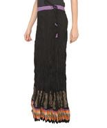Purple Zig Zag Border Crush Jaipuri Skirt  - $25.75