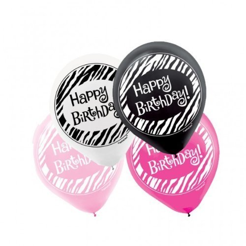 Primary image for Another Year of Fabulous Pink Black Birthday Party Decoration Latex Balloons