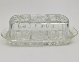 Anchor Hocking Prescut Clear EAPC Quarter Pound Covered Butter Dish Vint... - $35.64