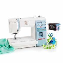 Usha Janome Automatic Stitch Magic Sewing Machine (White and Blue) with Free Sew - $760.00