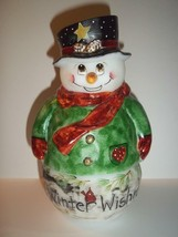 Fenton Glass Winter Wishes Red Cardinal Snowman Fairy Light Lamp  LE #9 ... - $309.43