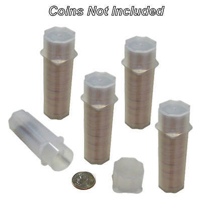 Dime Square Coin Tubes by Guardhouse, 17.9mm, 5 pack