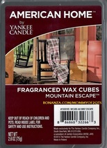 Mountain Escape American Home Yankee Candle Fragranced Wax Cubes Tarts - $3.50
