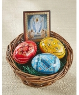 Easter Egg Basket with Resurrection Icon - $39.95
