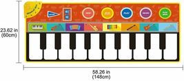 Cyiecw Piano Music Mat w/19 Keys, 8 Musical Instruments, Speaker & Recording image 4