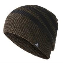 ADIDAS 3S Knit Winter Beanie HEADWEAR BR9928 Dark Olive / Black ONE SIZE... - $59.77