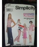 Simplicity 7185 Juniors' Tops, Skirt & Pants Pattern - Size 11/12-15/16 - $7.91