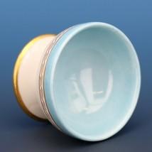 Vintage Open Salt Dip Cellar Footed Old Paris Porcelain French Blue image 2