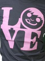 Neff Womens Carbone Piacevole Ragazze Ciuccio Viso Love Statua T-Shirt Nwt image 4