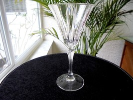 Royal Crystal Rock Novecento Pattern Clear Water Goblet Retired - $19.79