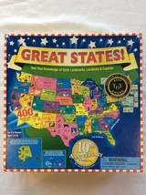 Great States Educational Board Game Landmarks Locations & Capitals - $12.95