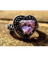Haunted Pink Angelic light Rays portal ring Archangel Chamuel Moonstar7s... - $80.00