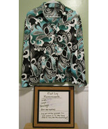 east 5th Womens Floral Print Shirt Size XL Teals Greens - $19.79