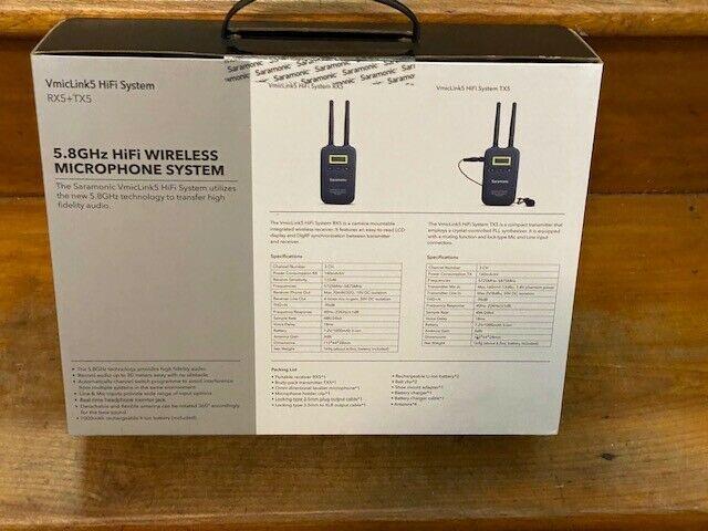 Saramonic VmicLink5 5.8GHz HIFI SHF Wireless Lavalier Microphone System -NEW