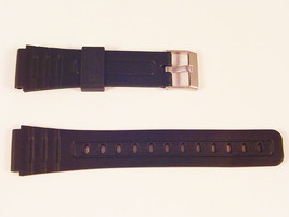New Watch Strap For CASIO F91 New Mens Rubber Resin Black 18mm PU Band S57 - $10.50