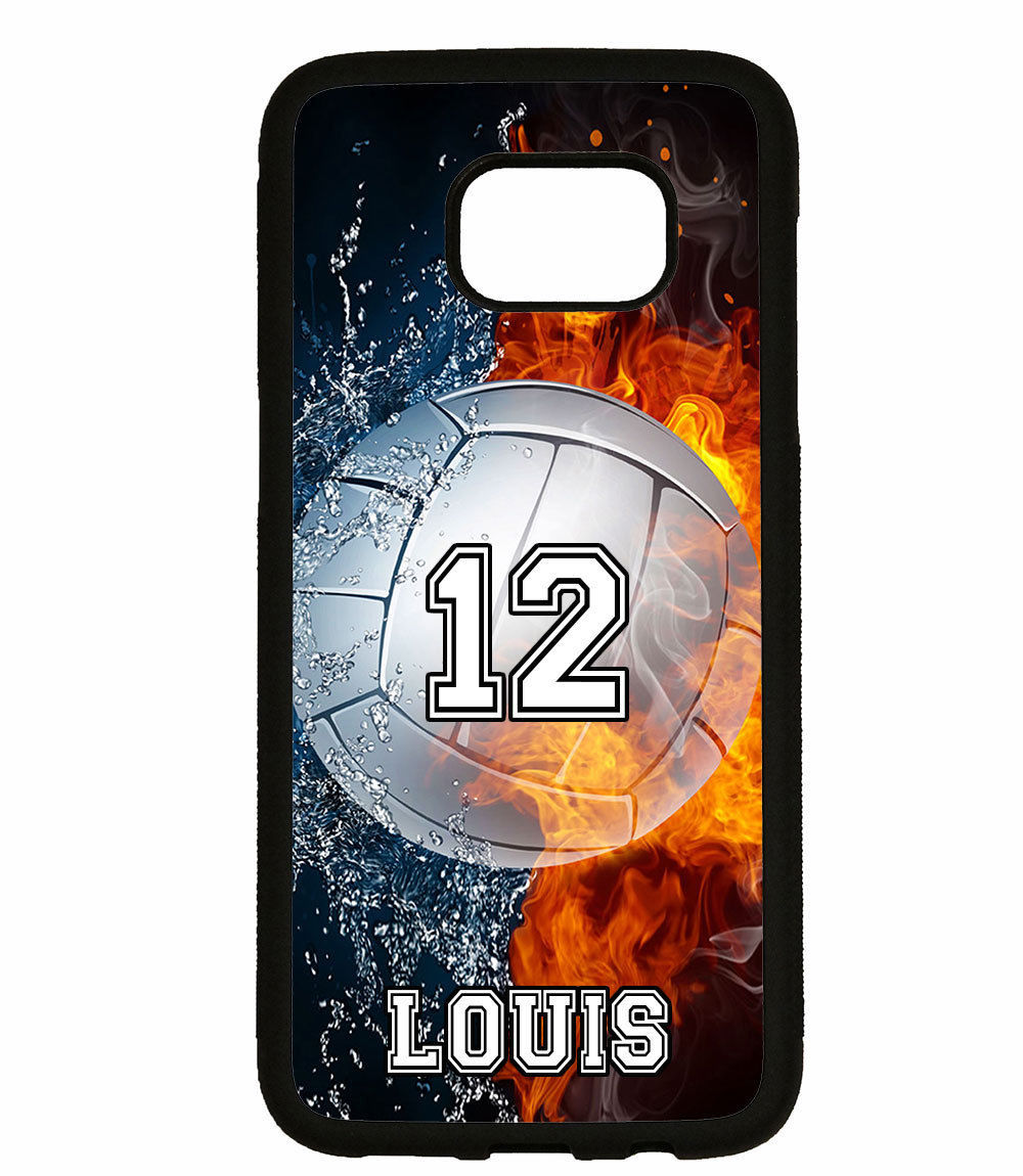 PERSONALIZED NAME NUMBER VOLLEYBALL PHONE Case For Samsung Galaxy S8 S7 NOTE 8 5 for sale  USA