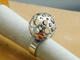 RARE Nestor Westerback Finland Sterling Amber Ring Modernist 7 - $425.00