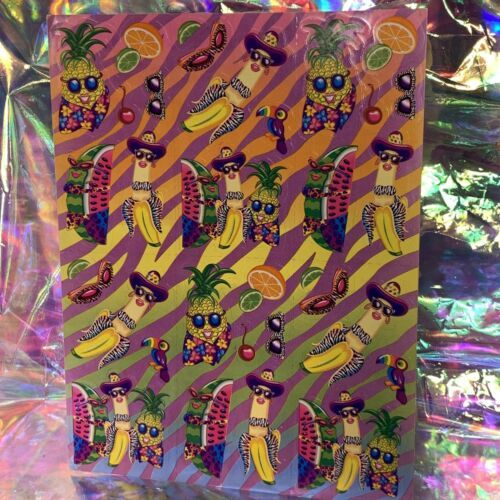 S251  MINTLisa Frank Fabulous Fruit Pineapple Watermelon Banana Sticker