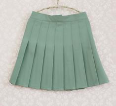 Women Girls Campus Style Pleated Mini Skirt School Skirt, Black White, Plus Size image 7