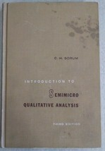(C) Introduction to Semimicor Qulitative Analysis 1960 Hardcover Book CH... - $3.95