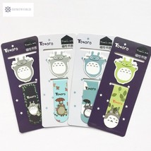 A43 2pcs /Set Kawaii Cute Totoro Magnetic Bookmarks Books Marker of Page... - $2.25
