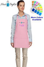 Personalized Apron with Hair Stylist Salon Embroidery Design Mom Gift - $22.99