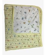 Vtg Carters JOHN LENNON Yellow White Baby Blanket Animals Real Love Para... - $39.59