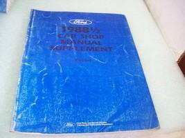 1988 1/2 Ford Escort Car shop Supplement Manual - $6.92