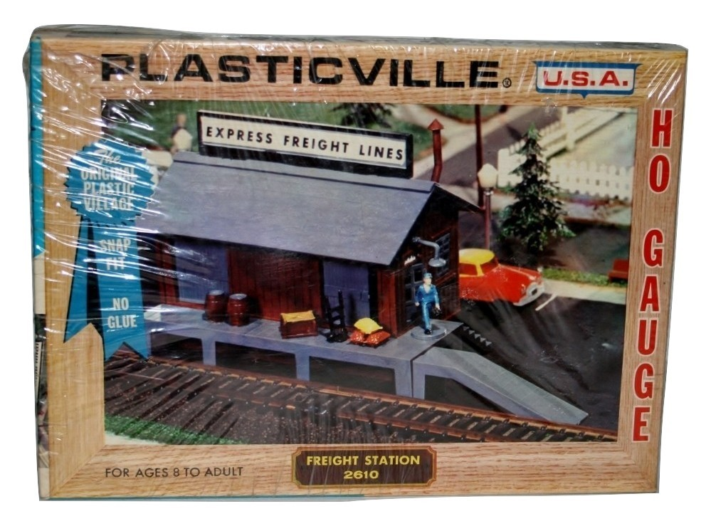 Bachmann Plasticville U.S.A. Express  HO Freight Station, New,