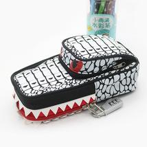 Pencil Case Pen Bag White Crocodile With Lock - $13.99