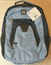 """fūl 18"""" 3 compartment Backpack Light and Navy Blue NEW ful - $37.53"""