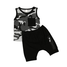 0 3Years Newborn Kids Baby Boys Clothes Camouflage Sleeveless Tops T shi... - $10.39
