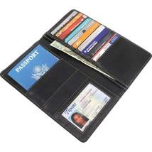 Maxam™ Genuine Leather Passport Wallet Black - €10,42 EUR