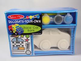 race car piggy bank Paint decorate your own DIY rainy day craft Melissa ... - $16.99