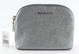 New MICHAEL KORS Cindy Silver Metallic Travel Pouch Bag - $48.00