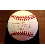 CLETE BOYER # 6 W.S. CHAMPS 1961 YANKEES SIGNED AUTO VINTAGE OAL BASEBAL... - $118.79