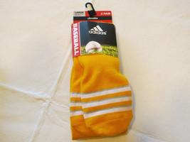 Adidas Climalite Unisex Rivalry Baseball 2 Paar Socken L 9-13 Otc College Gold - $15.48