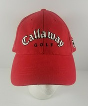 Callaway Golf Strapback Adjustable Baseball Cap Hat Red Designed by Cap Dog - $19.99